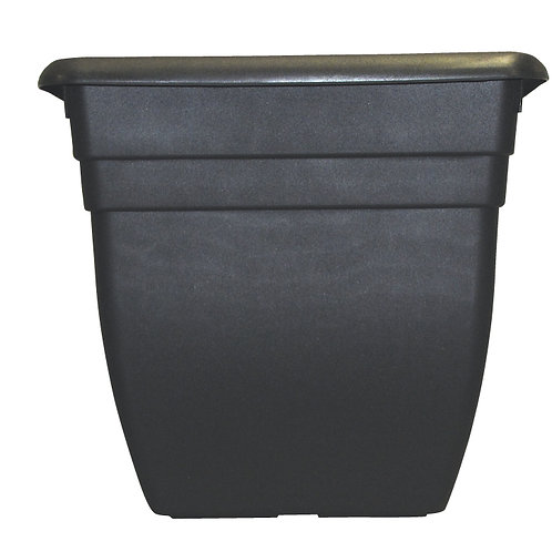 Oasis square Charcoal  planter 32cm