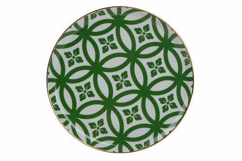 Morocco Green Flat Plate 18cm