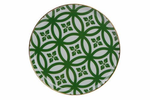 Morocco Green Flat Plate 18cm