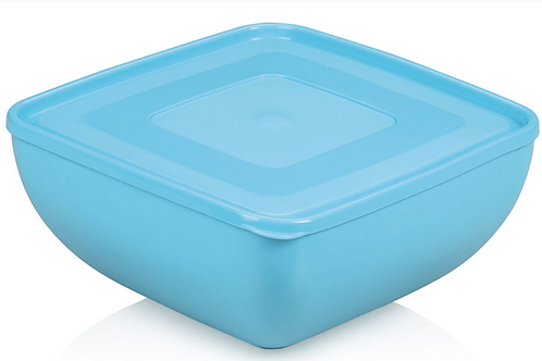 Square Bowl with lid 27 cm 6lt