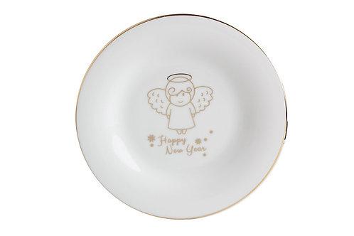 Gold Twinkle Flat Plate 22cm