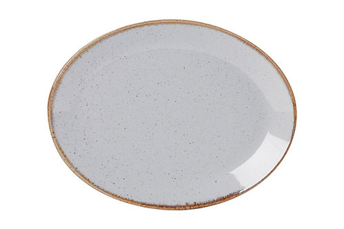 Seasons Grey Oval Plate 31cm