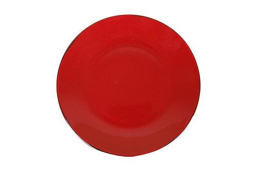 Seasons Red Flat Plate 26cm