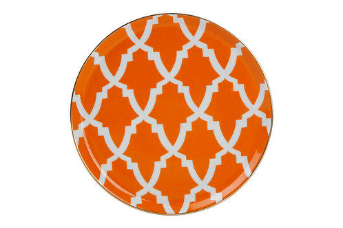 Morocco Orange Flat Plate 20cm