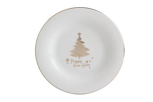 Gold Twinkle Flat Plate 27cm