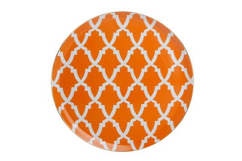 Morocco Orange Flat Plate 28cm