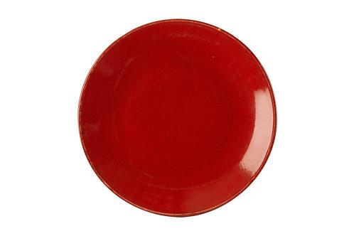 Seasons Red Flat Plate 24cm