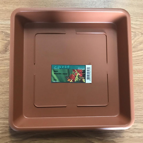 Oasis square Terracotta saucer for 26cm
