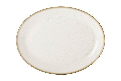 Seasons Beige Oval Plate 24cm