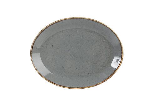 Seasons Dark Grey Oval Plate 18cm