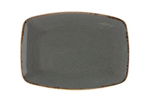 Seasons Dark Grey Oval Plate 27cm