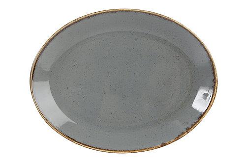 Seasons Dark Grey Oval Plate 31cm
