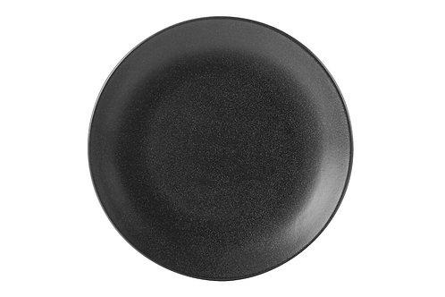 Seasons Black Flat Plate 24cm