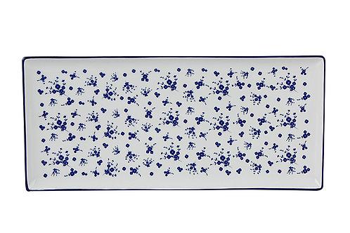 Blue Passion Cake Plate 35cm