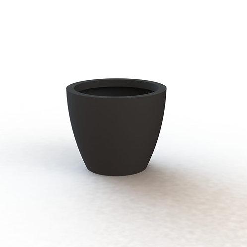 Fiber Glass Charcoal 50 cm round smooth finish pot
