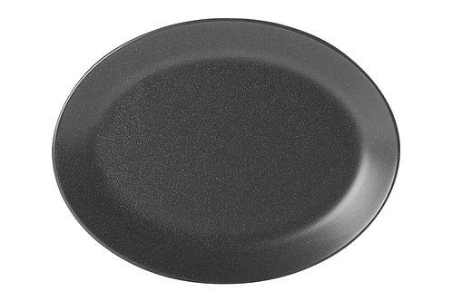 Seasons Black Oval Plate 24cm