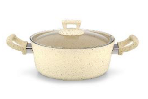 Gertium Beige 30cm Deep Pot 9.5lt