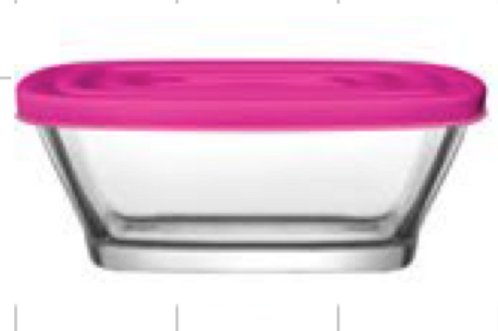 Def storage bowl with lid   Twin pack