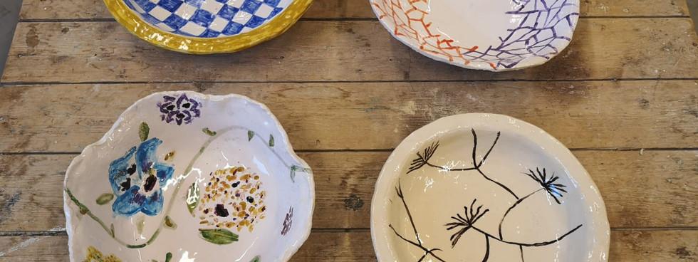 Glazed plates (2)