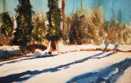 Schilderen - Sneeuw Frank