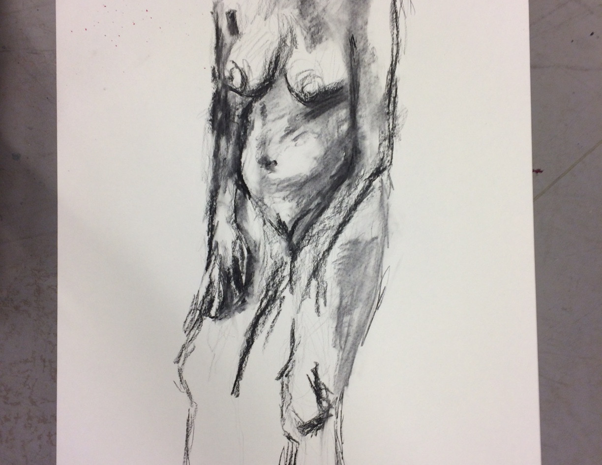 Model drawing - charcoal