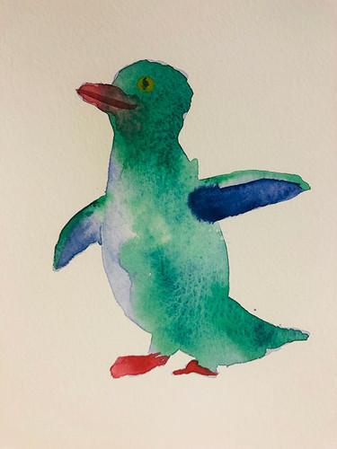 7 Birds in watercolour