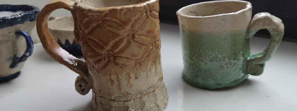 Glazed mugs (2)