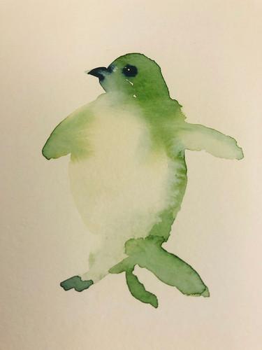 6 Birds in watercolour