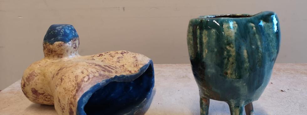Glazed hollow sculpture (7)