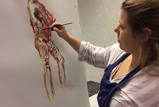 mixed-media-model-drawing-in-pastel-and-