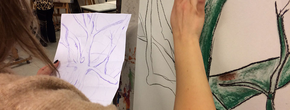 sketching-a-tree-outside,-then-making-it