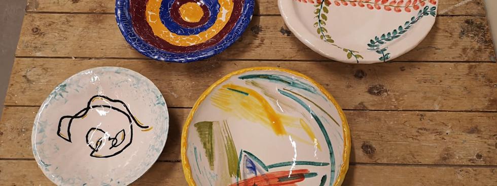Glazed plates (1)