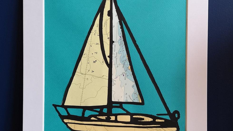 Sailing boats (teal)