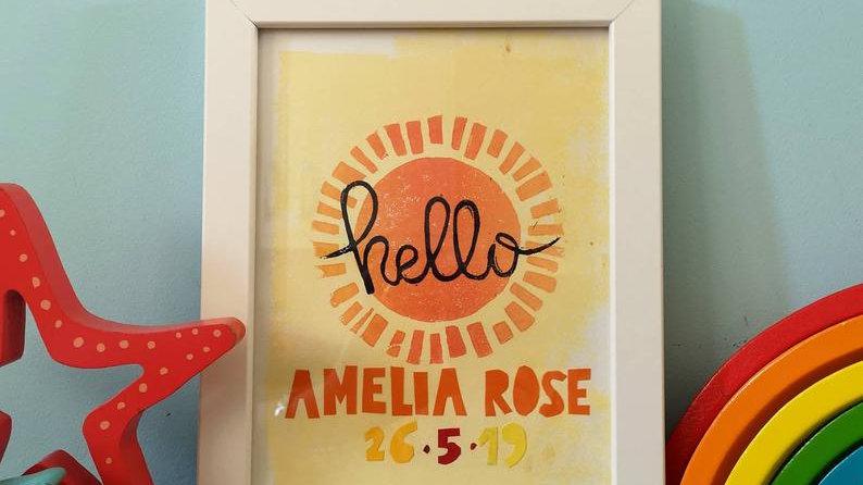 Hello nursery art (personalised)