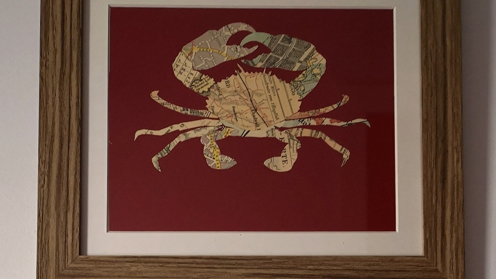 Crab map collage
