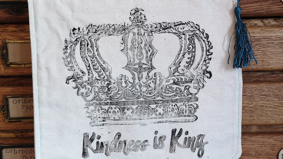 'Kindness is King' pennant banner