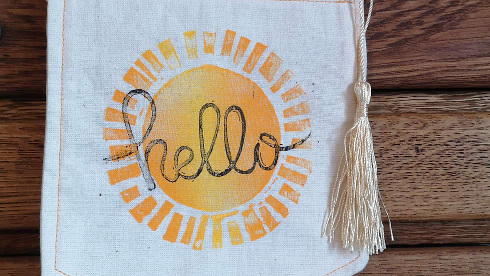 'Hello sunshine' pennant banner