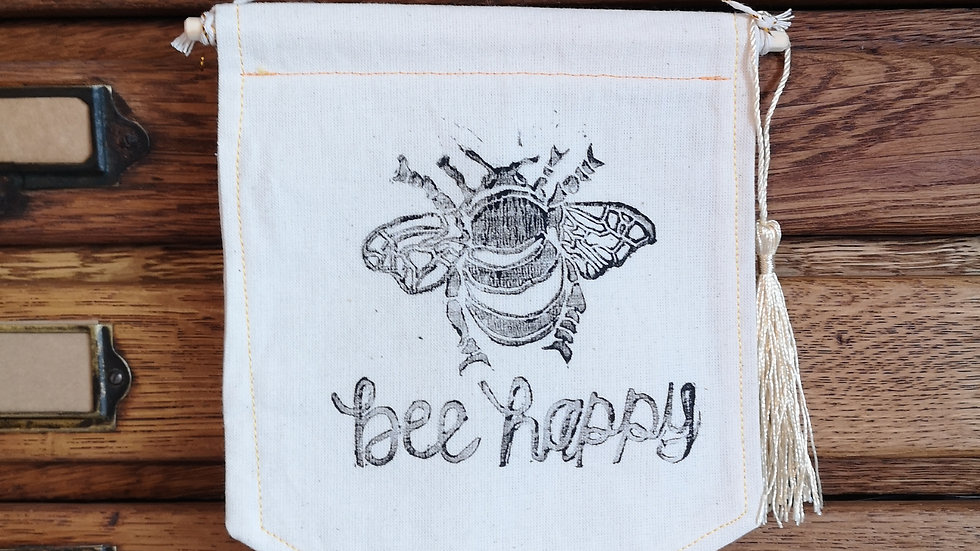 Bee pennant banner