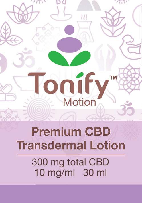 Tonify Motion - Premium CBD Transdermal Lotion - 300mg total CBD - 30ml - PUMP