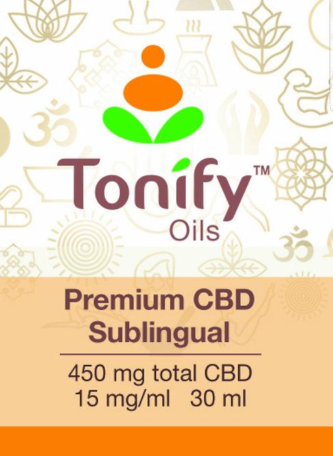 Tonify Oils - Premium CBD Sublingual - 450mg total CBD - 30ml - Orange/Lemon