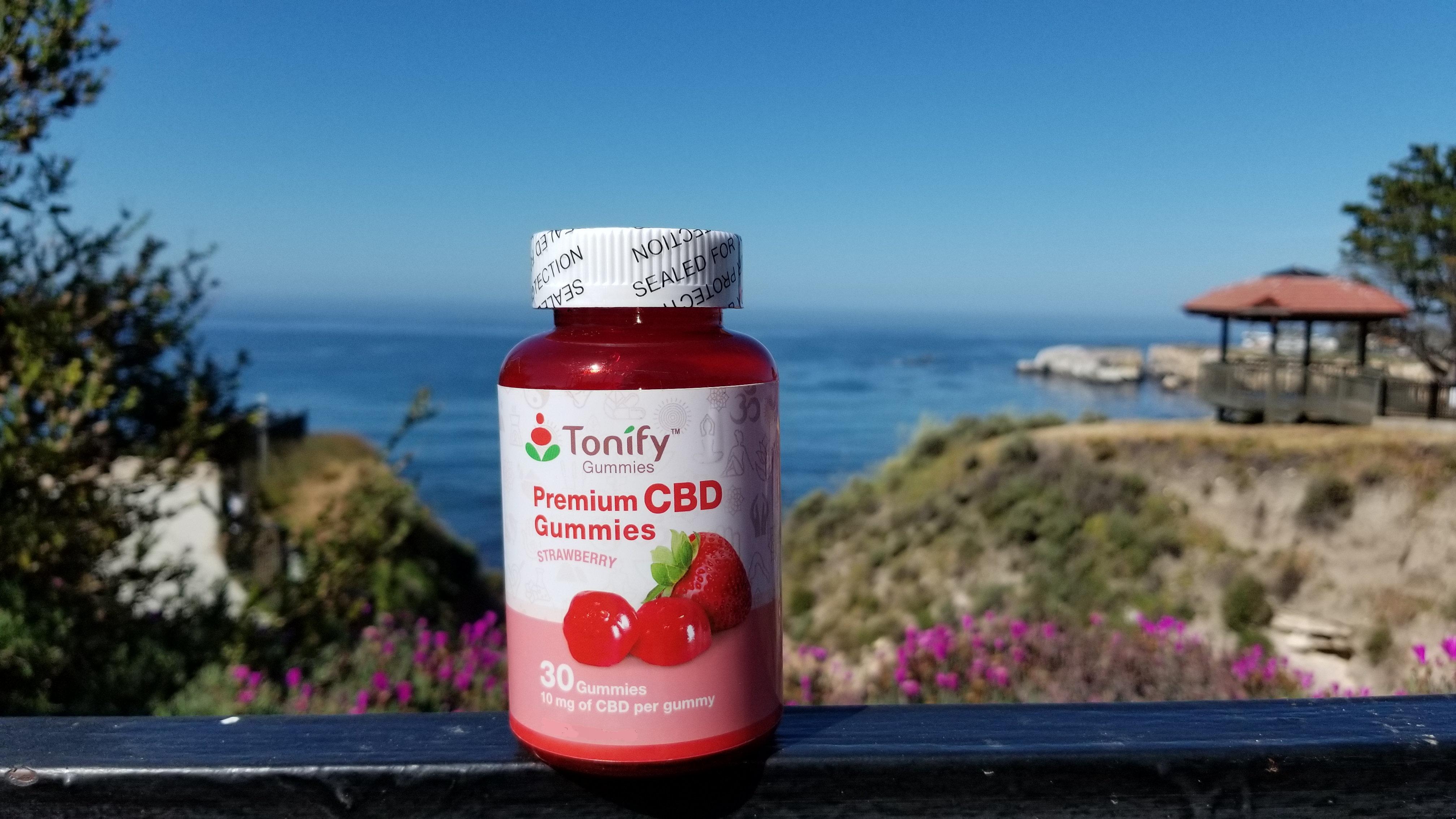 Tonify Premium CBD Vegan Gummies - 10mg of CBD per gummy - 30 Ct -  Strawberry