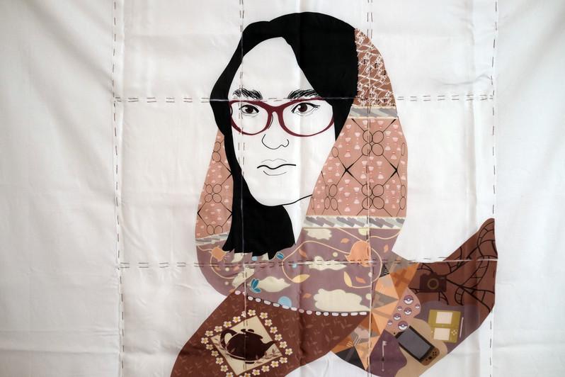close up of illustration piece