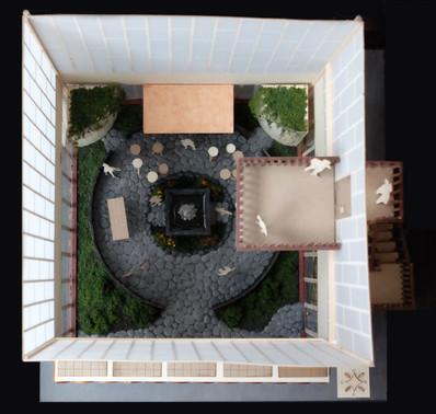 top view of building model