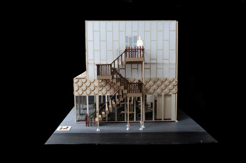 side view of building model