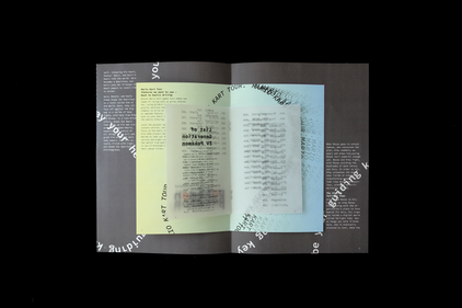 inside of stacked booklets