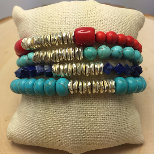 Red and Blues Bracelets