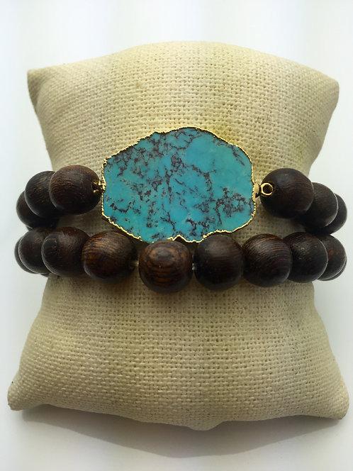 Santa Fe Wood Bracelet