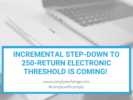 Incremental Step-down to 250-return Electronic Threshold Is Coming!