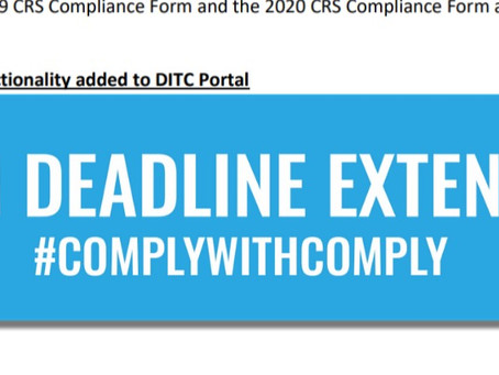 2019 Cayman CRS Compliance Form Deadline Extension