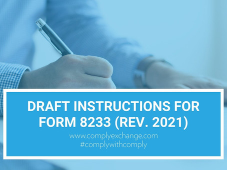 DRAFT Instructions for Form 8233 (Rev. 2021)